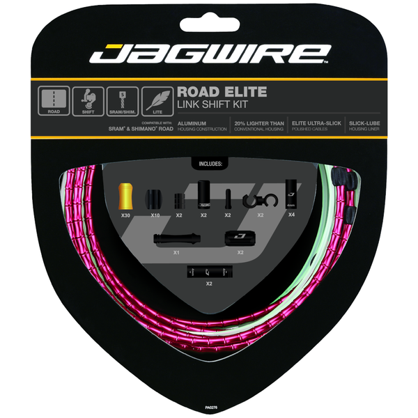 Jagwire Road Elite Link Shift Kit Red