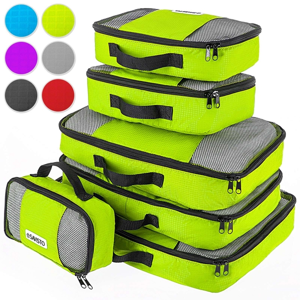 Savisto Packing Cubes Suitcase Organiser 6-Piece Set - Green