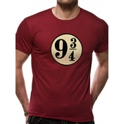 Harry Potter - Platform 9 3/4s Men's X-Large T-Shirt - Red