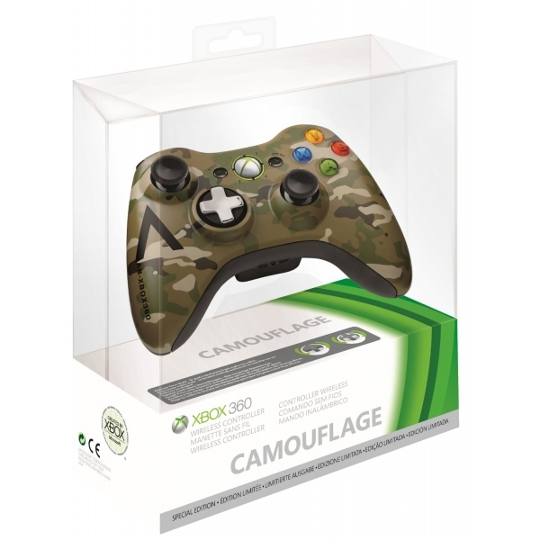 Official Microsoft Special Edition Camouflage Wireless Controller Xbox 360