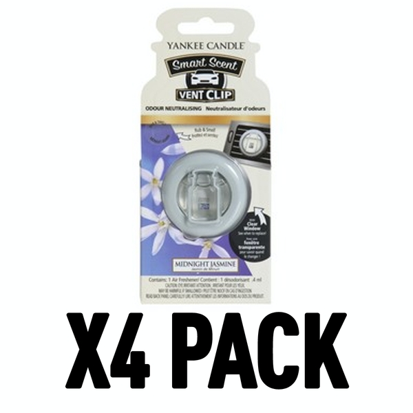 Midnight Jasmine (Pack Of 4) Yankee Candle Smart Scent Vent Clip