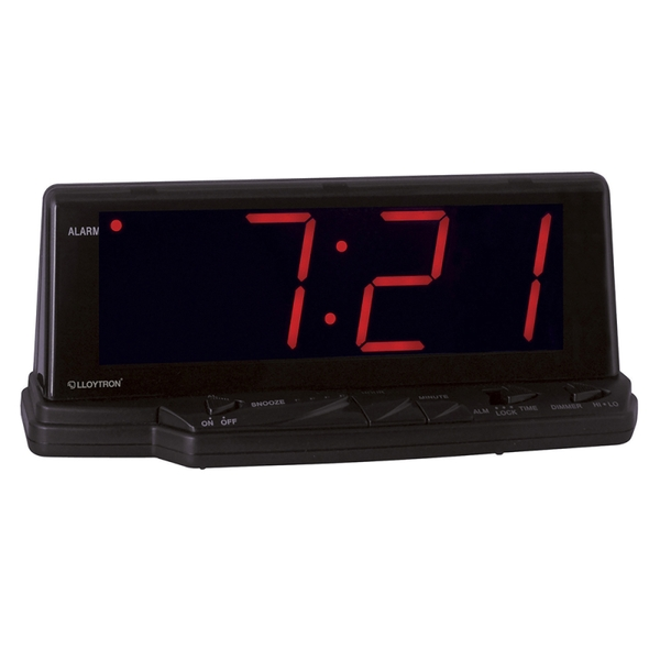 Lloytron J102 Prelude 1.8 Inch Jumbo Red Led Alarm Clock