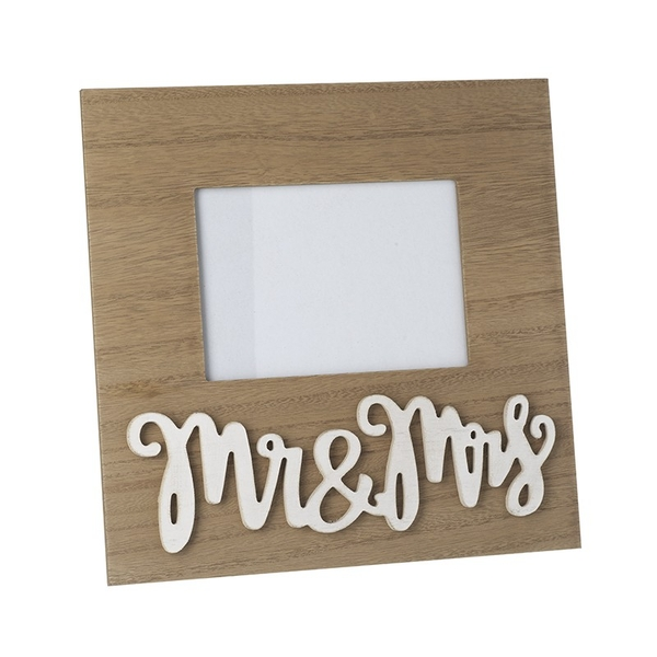 Mr & Mrs Wooden Picture Frame By Heaven Sends