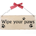 Wipe Your Paws Hanging Sign