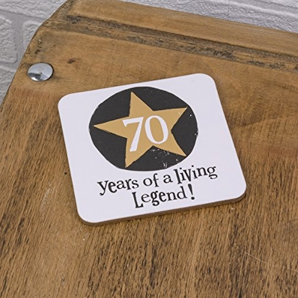 Brightside 70 Years of a Living Legend Coaster