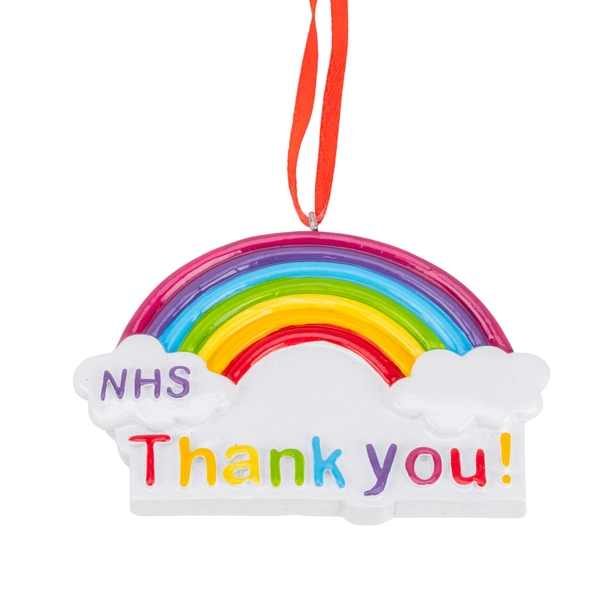 NHS Thank You Personalisable Hanging Ornament