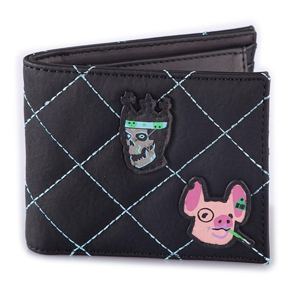 WATCH DOGS Legion Quilted with Patches Bi-fold Wallet - Black