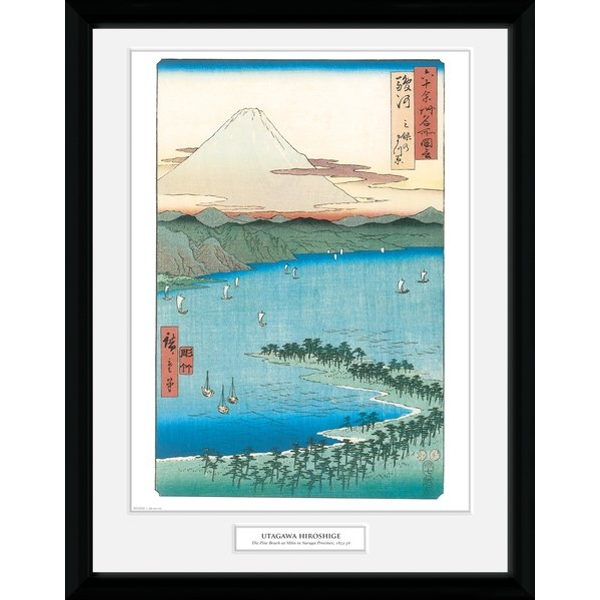 "Hiroshige The Pine Beach At Miho 12"" x 16"" Collector Print"