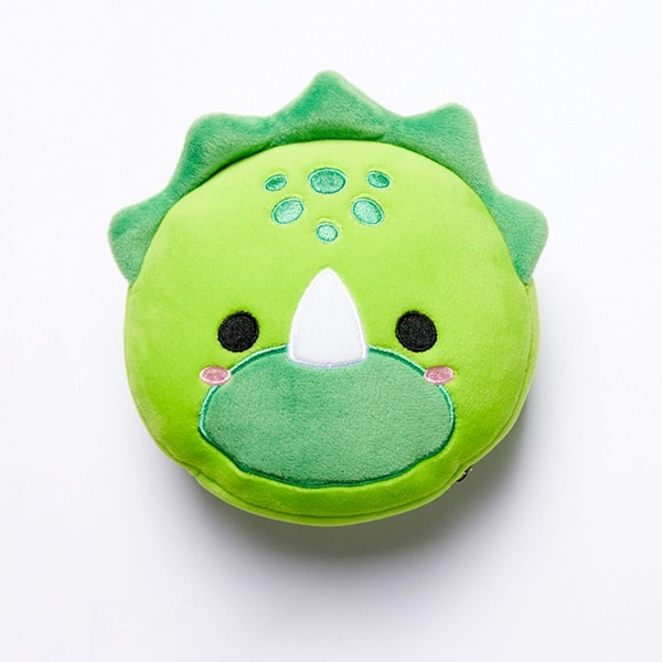 Relaxeazzz Cutiemals Dinosaur Round Travel Pillow & Eye Mask