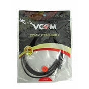 VCOM 3.5mm (M) Stereo Jack to 3.5mm (F) Stereo Jack 5m Black Retail Packaged Cable