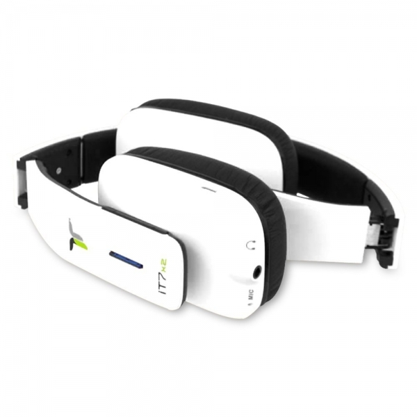 iT7x2 Foldable Wireless Bluetooth Headphones with Near Field Communication NFC White  - Image 3
