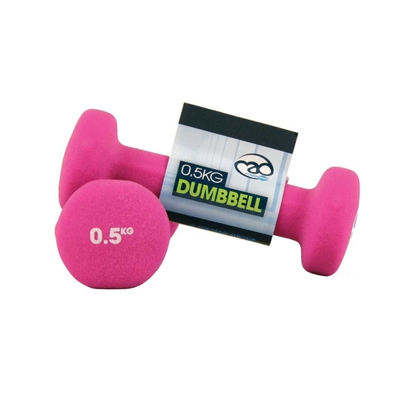 Yoga-Mad Neoprene Dumbbells 0.5KG