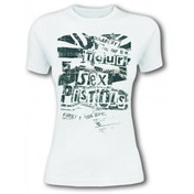 Sex Pistols 'Flag Tour' Women's Large T-Shirt - White