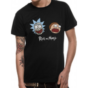 Rick And Morty - Heads Mne's X-Large T-Shirt - Black