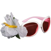 White Glasses With Flower