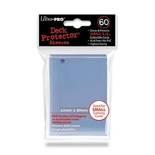 Ultra Pro Clear Small Deck Protectors - 60 Cards