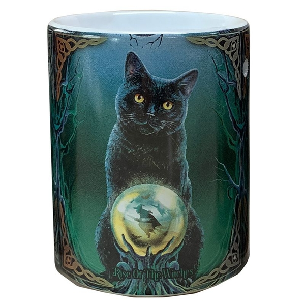 Lisa Parker Ceramic Rise of the Witches Cat Oil Burner