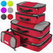 Savisto Packing Cubes Suitcase Organiser 6-Piece Set - Red - Image 2
