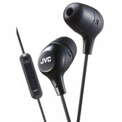 JVC HAFX38MB Marshmallow Custom Fit In-Ear Headphones with Remote & Mic Black