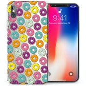 Caseflex Apple iPhone X Donuts TPU Gel Case