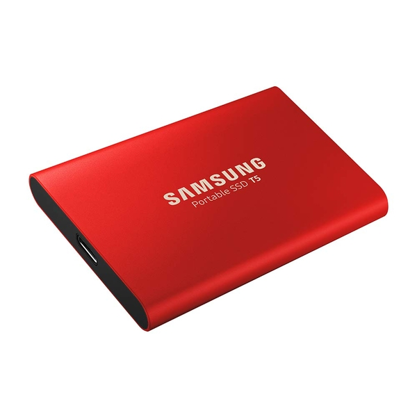 Samsung T5 500GB External Solid State Drive Red