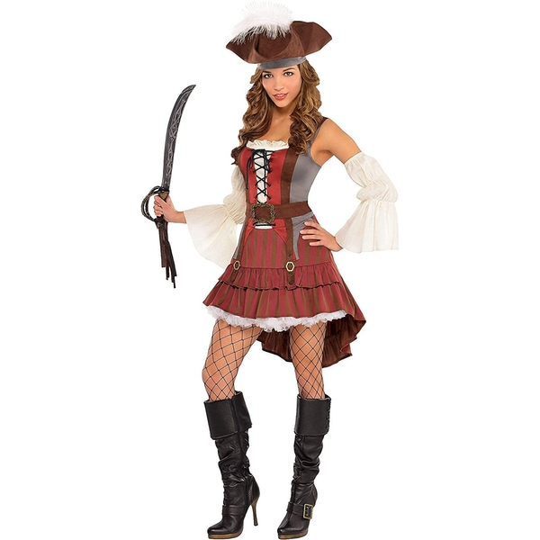 Amscan Lady Pirate Costume With Hat (Size 14-16)