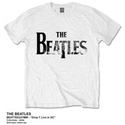 The Beatles Drop T Live In DC Mens White Tshirt: Large