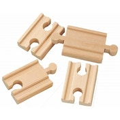Wooden Railway 2 Inch Mini Straight Track 4 Pieces
