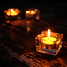Square Tealight Candle Holder | M&W Set of 24 - Image 3