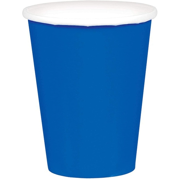Disposable Paper Party Cups Royal Blue (Pack Of 20)