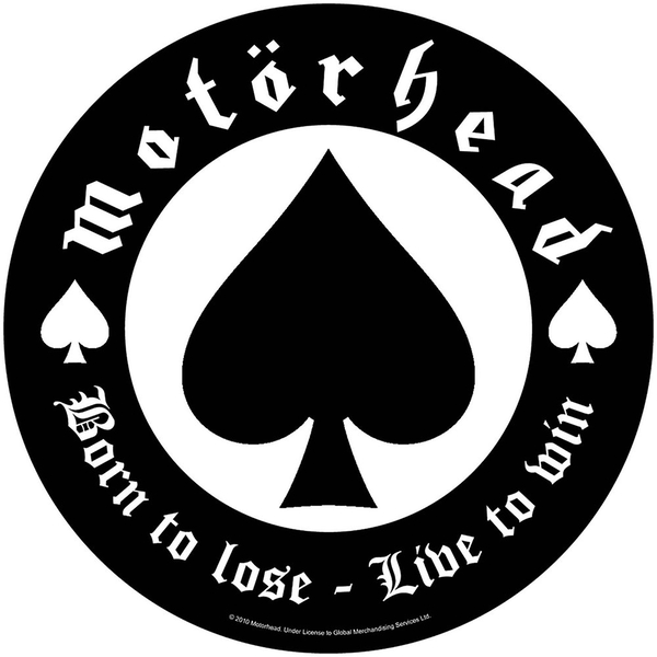 Motorhead - Born To Lose Back Patch