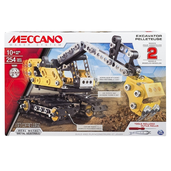 Meccano Excavator Pelleteuse Construction Digger - Image 1