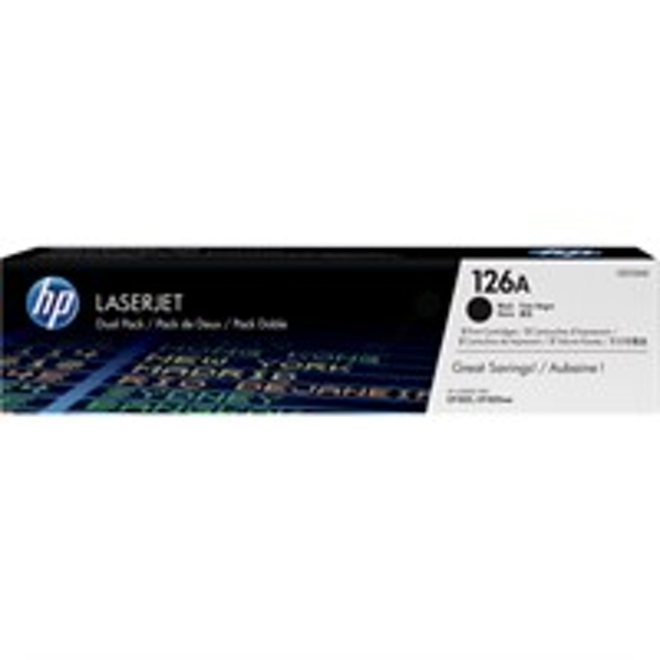 HP CE310AD (126A) Toner black, 1.2K pages, Pack qty 2