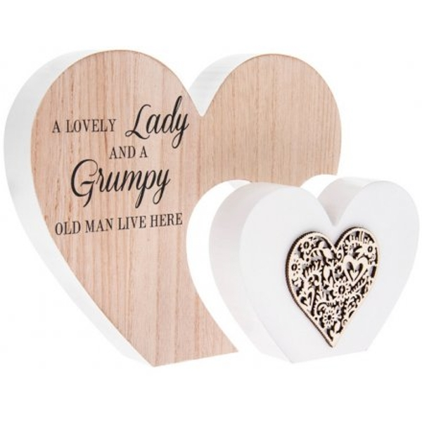 A Lovely Lady' Natural Toned Heart Plaque
