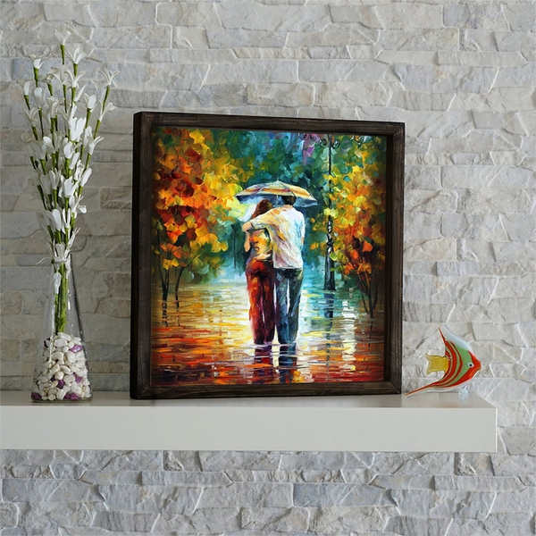 KZM581 Multicolor Decorative Framed MDF Painting