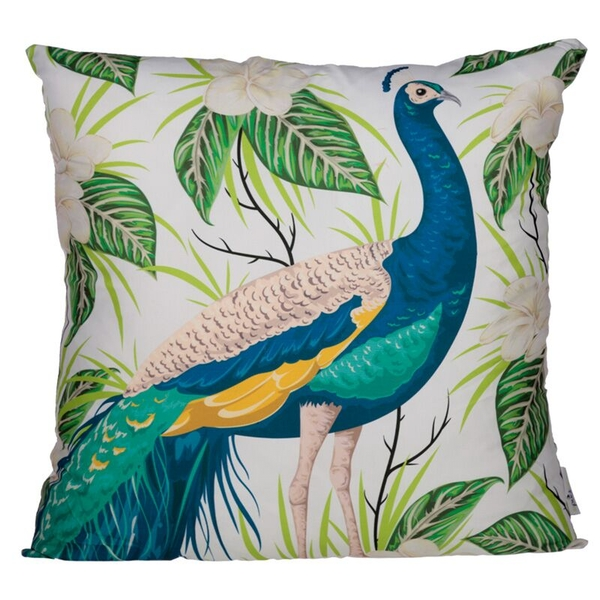 Peacock Design Cushion with Insert