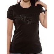 Wonder Woman Black Logo Womens T-Shirt Small