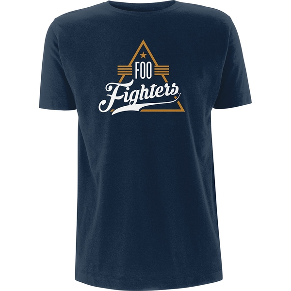 Foo Fighters - Triangle Unisex Small T-Shirt - Blue