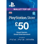 50 Playstation Network Card PSN UK PS3 & Vita & PS4