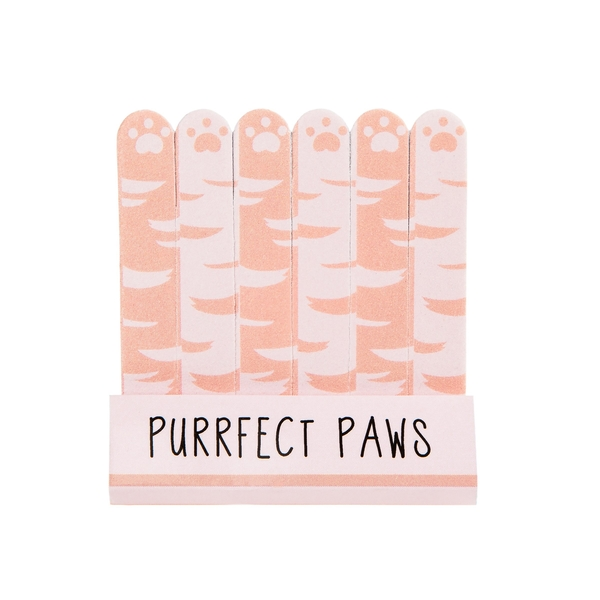 Sass & Belle Cutie Cat Purrfect Paws (Set of 6) Mini Nail Files