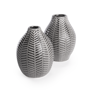 Ceramic Leaf Inspired Vases - Set of 2 | M&W