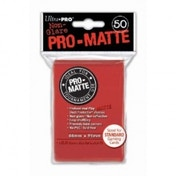 Ultra Pro Matte Red 50 Trading Card Sleeves - 12 Packs