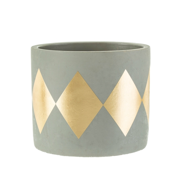 Sass & Belle Dina Gold Dip Cement Planter