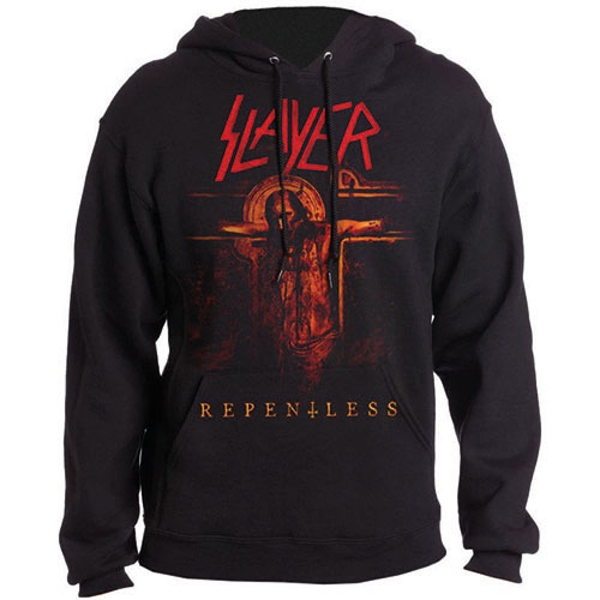 Slayer - Repentless Crucifix Unisex Small Pullover Hoodie - Black