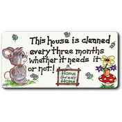 This House Is Cleaned Smiley Magnet