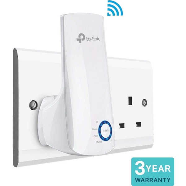 TP-LINK (TL-WA854RE) 300Mbps Wall-Plug Wifi Range Extender, No LAN - UK Plug
