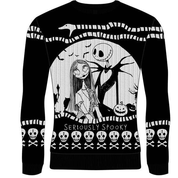Nightmare Before Christmas - Seriously Spooky Unisex Christmas Jumper Medium