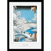 Hiroshige The Drum Bridge Collector Print