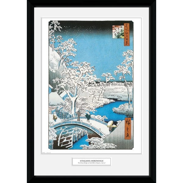 Hiroshige The Drum Bridge 50 x 70cm Collector Print