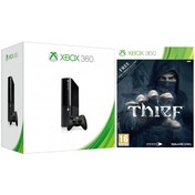 Slim 250GB HDD Black Xbox 360 Console with Thief Game